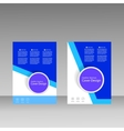 Brochure business style cover template vector image vector image