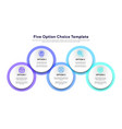 business model with 5 options and choice vector image vector image