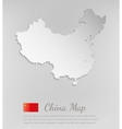 China map white card paper 3D vector image vector image