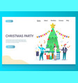 christmas party website landing page design vector image vector image
