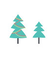 christmas tree decorated forest evergreen plant vector image