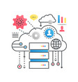 cloud computing technology service data storage vector image