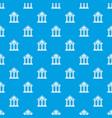 Colonnade pattern seamless blue