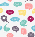 Colorful questions speech bubbles pattern vector image vector image