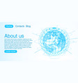 concept global planet earth point blue background vector image vector image