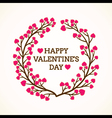 creative happy valentine day greeting design vector image vector image