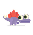 cute sregosaurus walking dinosaur life vector image
