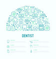 dentist concept in half circle vector image vector image