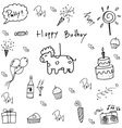 Doodle of birthday party vector image vector image