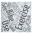 exercise bike Word Cloud Concept vector image vector image