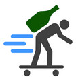 express wine courier icon vector image