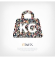 fitness people crowd vector image