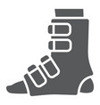 foot splint glyph icon orthopedic and medical vector image vector image