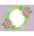 Frame with abstract flowers and background vector image vector image