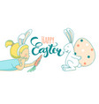Funny greeting happy easter card girls white