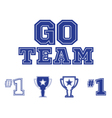 Go Team text and sports icons set vector image vector image