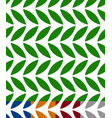 green leaves seamless pattern 3 color and gray vector image vector image