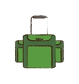 green luggage travel equipment color sketch vector image