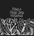 greeting christmas card in vintage style vector image