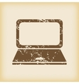 Grungy laptop icon vector image vector image