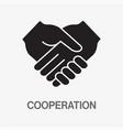 handshake glyph icon vector image vector image