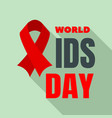 happy aids day logo set flat style vector image vector image