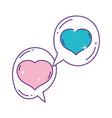 hearts love romantic speech bubbles design vector image vector image