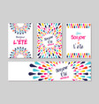 hello summer french greeting card label set vector image vector image
