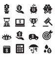 investment bonus financial business icon set vector image