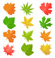 leaves icon set 2 vector image vector image