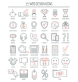 Linear web design icons Modern line icons for vector image vector image
