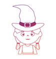 little girl disguised as a witch vector image vector image