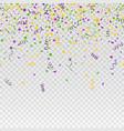 mardi gras carnival confetti seamless background vector image vector image