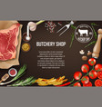 meat banner for restaurant or butcher shop fresh vector image vector image