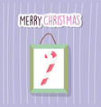 merry christmas celebration hanging frame candy vector image