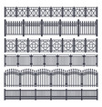 metal fence and gate iron steel railing barrier vector image