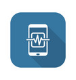mobile medical supervision icon flat design vector image vector image