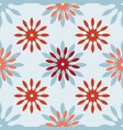 modern stylized flowers on blue background vector image vector image