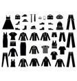 monochrome clothes for male and vector image vector image