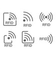 monochrome set of icons rfid set of icons vector image