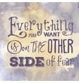 motivational quote on watercolor background vector image