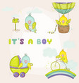 newborn cute parrot set for bashower cards vector image vector image