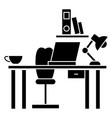 office desk - home desk icon vector image vector image