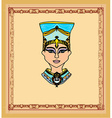 old paper with Egyptian queen cleopatra vector image vector image