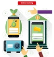 Online Banking Flat Style Design vector image vector image