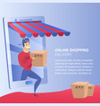 online shopping delivery website element template vector image vector image