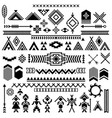 patterns of american typical indians vector image