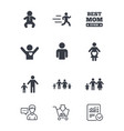 people family icons maternity sign vector image vector image