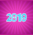 pink new year greeting card vector image