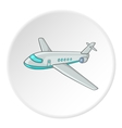 Plane icon isometric style vector image vector image
